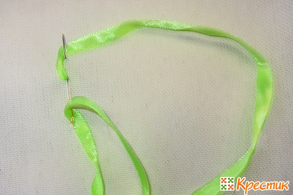 Вышивка лентами цепочка мк