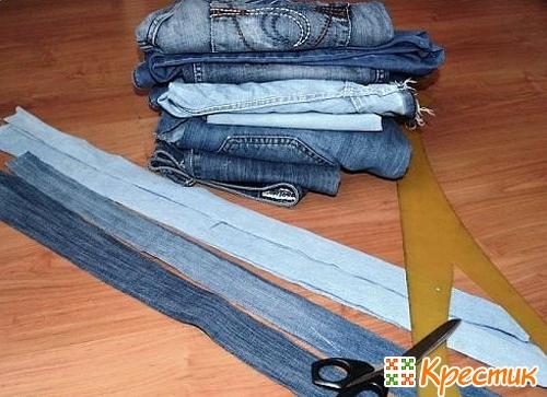пэчворк из джинсы