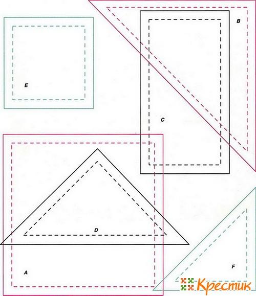 Пэчворк для начинающих: схемы и шаблоны для лоскутного шитья, Крестик