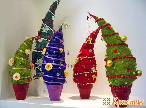 Делаем новогодние игрушки на елку своими руками