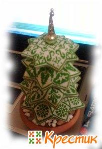 Новогодняя елка с вышивкой