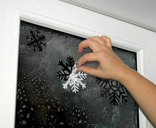 Как сделать пастой на окне