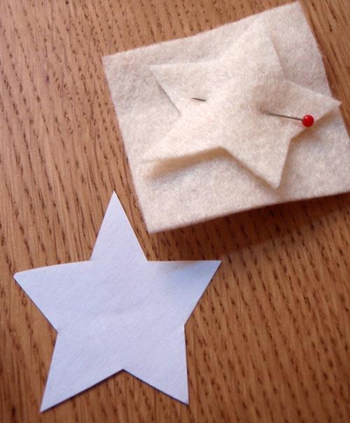 Звезда из фетра