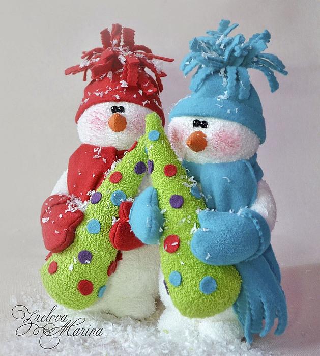 Новогодняя игрушка снеговик своими руками на конкурс
