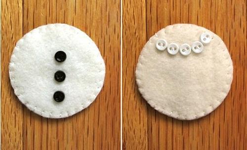 Как сшить снеговика из фетра