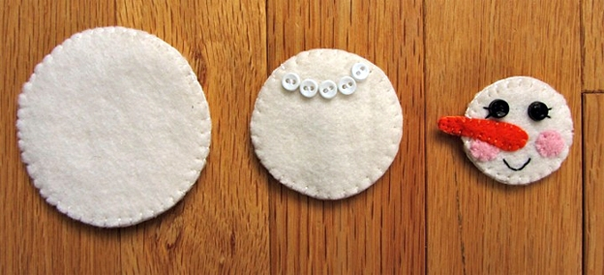 Снеговики из ткани своими руками