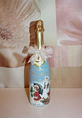 Как сделать новогоднюю бутылку шампанского фото 206