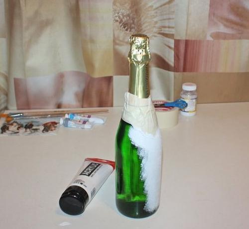 Декупаж бутылок мастер-класс