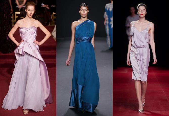 Роскошные ткани новогодних платьев