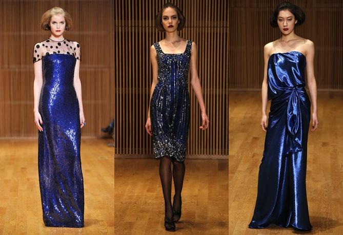 Синие платья на Новый год 2014