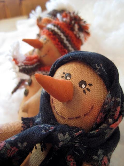 Креативный снеговик своими руками