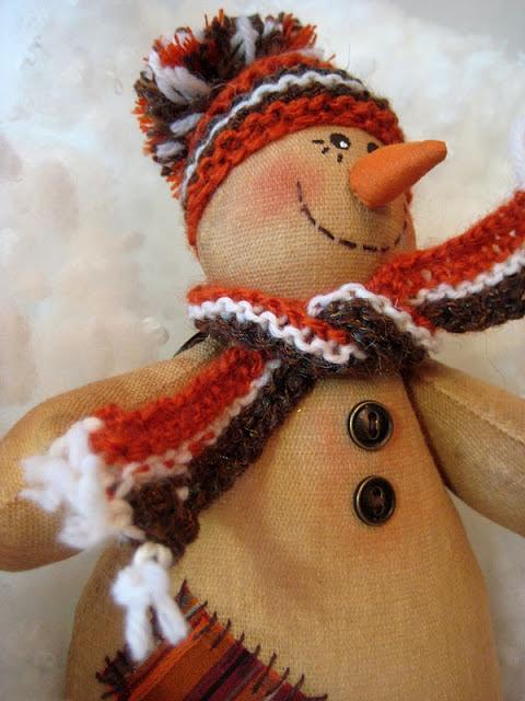 Мягкая игрушка снеговик своими руками