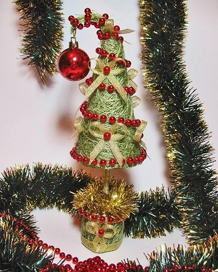 Новогоднее кофейное дерево своими руками
