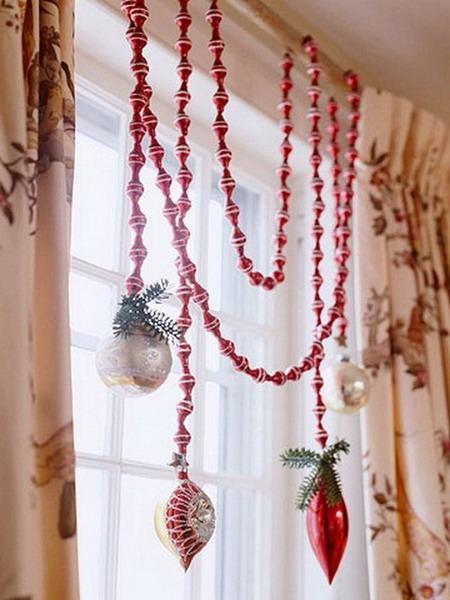 Как украсить штору к Новому году