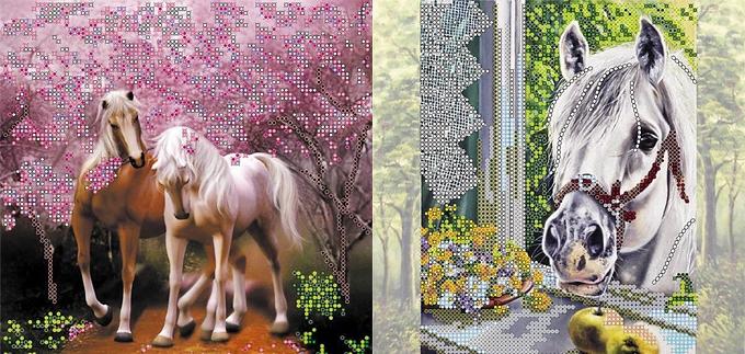 Наборы для вышивания бисером с лошадьми
