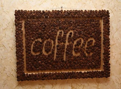 Панно из зерен кофе
