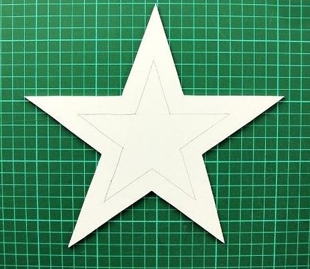 Заготовка звезды из картона