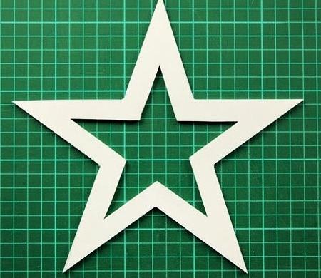 Звезда из картона