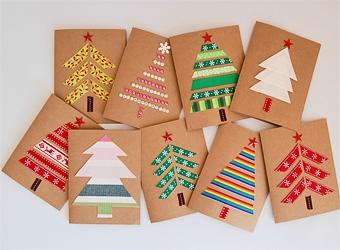 Простые новогодние открытки