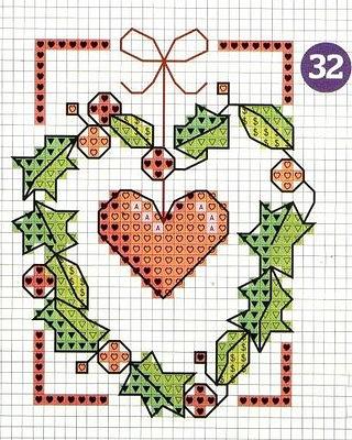 Сердечко схема вышивки крестом