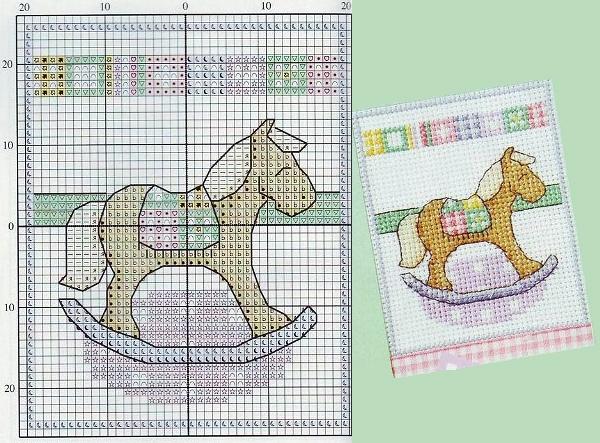 Схема вышивки лошадки