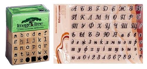 Штампы для скрапбукинга с буквами и цифрами
