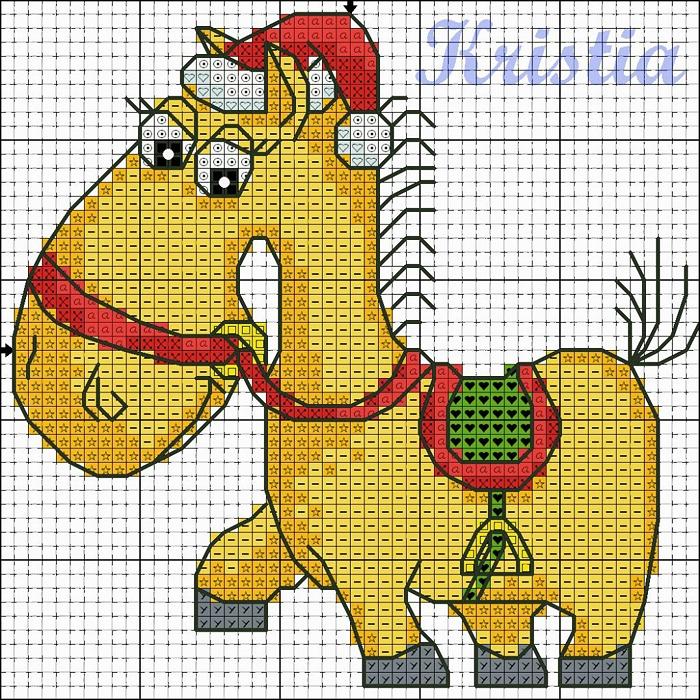 Вышиваем лошадку