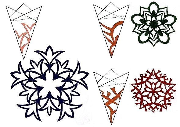 Снежинки своими руками схемы