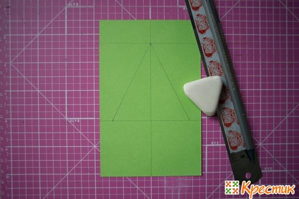 Заготовка для открытки ручной работы