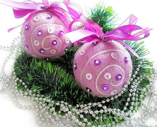 Новогодние шары своими руками фото