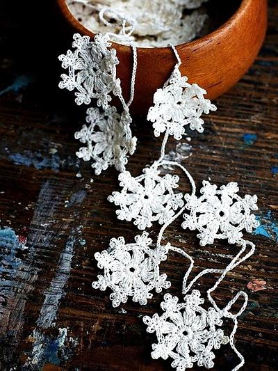 Вязаные снежинки схемы