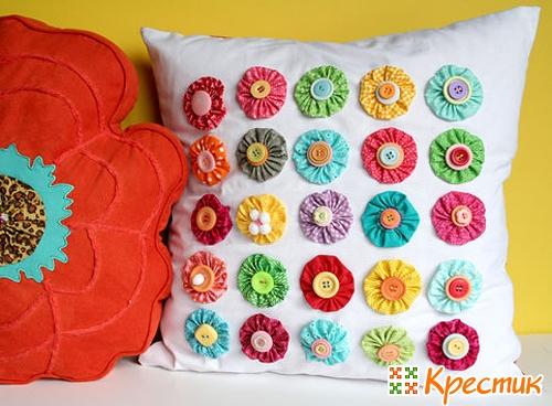 Йо-йо - цветок из ткани