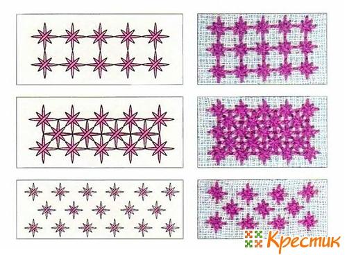 100 видов вышивки крестом: