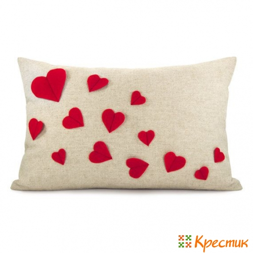 Подушка своими руками валентинка