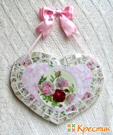 Валентинка из мозаики