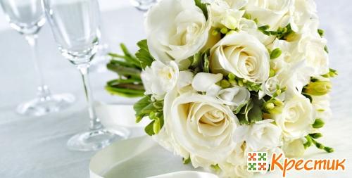 Белые розы на серебряную свадьбу