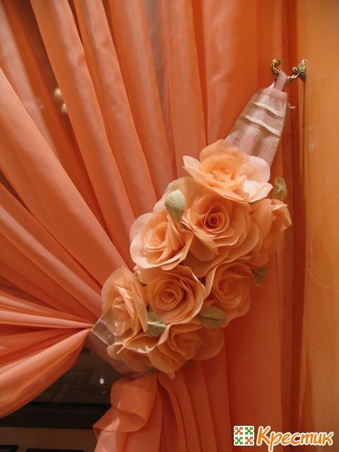 Цветы из ткани в интерьере