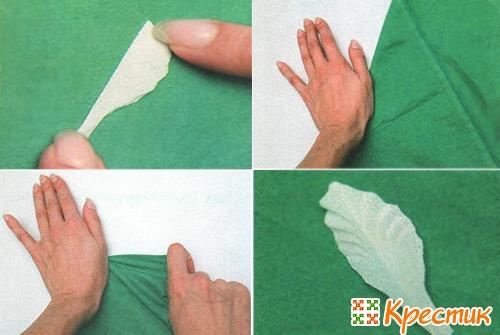 Гофрированный лепесток из ткани