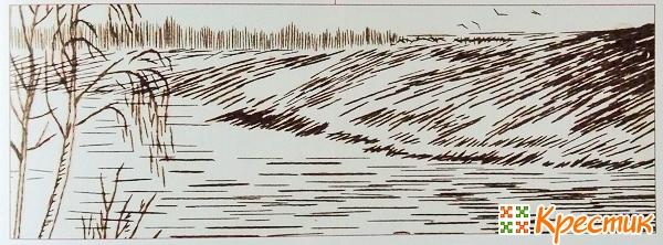 Вышивка имитация рисунка карандашом