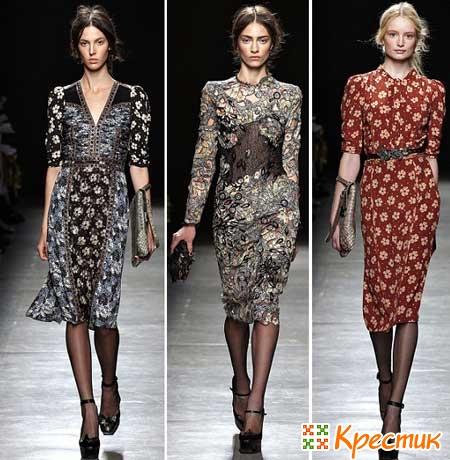 Платья Bottega Venetta весны 2013