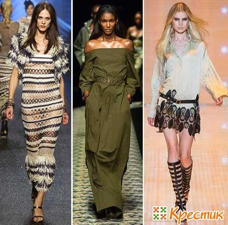 Платья Gean Paul Gaultier, Kenzo и Versace