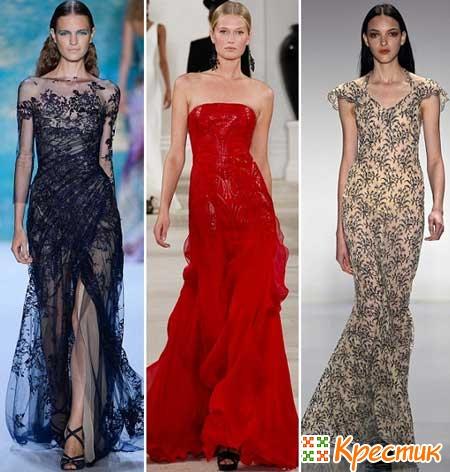 Вечерние платья для праздника 8 марта