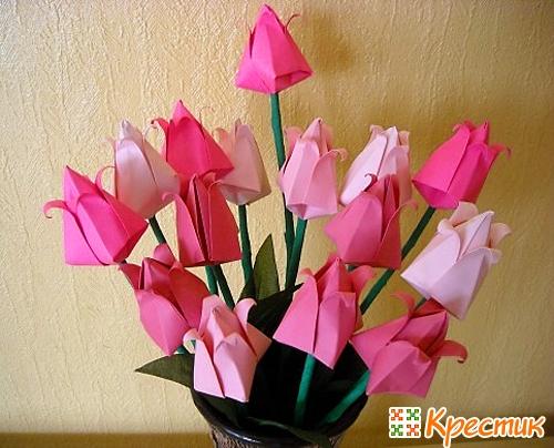 Бумажные цветы оригами
