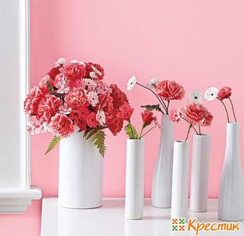 Бумажные цветы своими руками