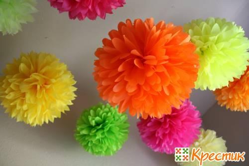 Цветы своими руками из гофрированной бумаги мастер