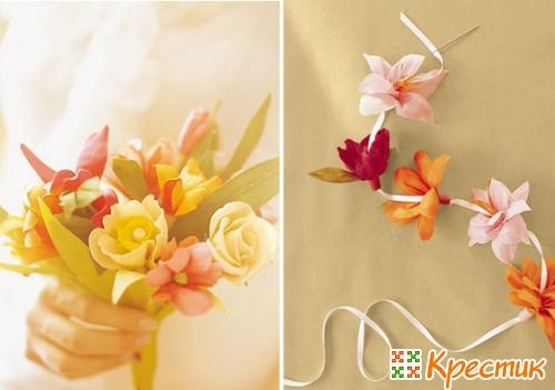 Поделка цветок из бумаги