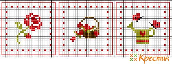 пятиклинка схема цветы