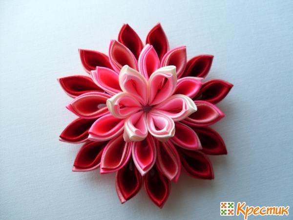 Как сделать цветок канзаши
