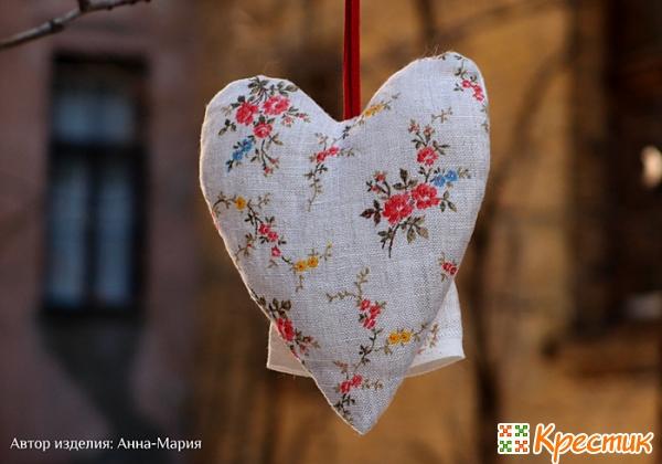 Сердечко из ткани своими руками