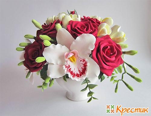 Цветы из полимерной глины купить в москве заказать луковичные цветы почтой наложенным платежом из краснодара
